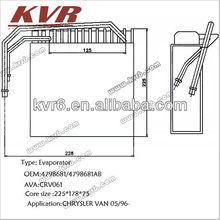 Automotive evaporator for CHRYSLER VAN 05/96- OE:4798681