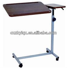 Hospital Height adjustable wood Overbed table/Furniture