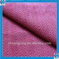 la onda roja de cationes patrón de tela de terciopelo panne para sofa