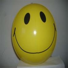 "2 INFLATABLE 12"" SMILE FACE BEACH BALL YELLOW"