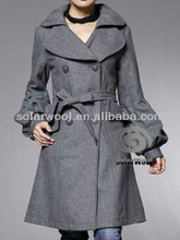 Women's winter woolen coat