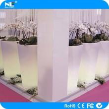 Plastic decorative color changing led flower pot led solar lights for garden