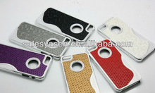 custom design cell phone Electroplating Diamond hard case for iphone 5