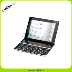 2015 newest ultra thin solar bluetooth keyboard case for ipad 2/3/4 BK313