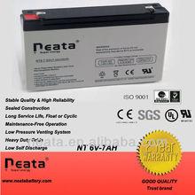 alarm/security/emergency system battery 6v7ah