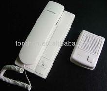 DC 4.5V intercom , 4C wired Intercom system door phone , audio intercom door phone with door release button