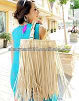 PU Material 2013 High Quality Lady Bags Handbags with fringe