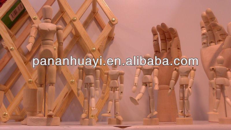 Manequim de madeira ; ajustável de madeira manequim