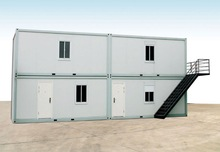 ISO&CE certificated welded prefab steel structure container house