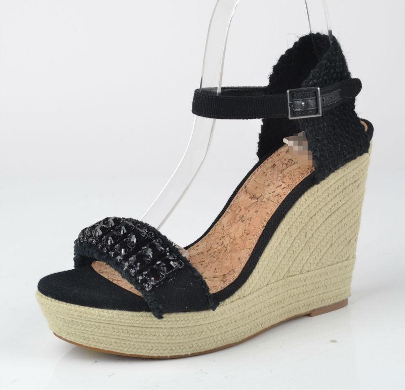 2014 nueva dama de cuñas sandalias zapatos
