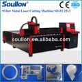 500w sd-fc2513a venta caliente hoja de acero inoxidable, eléctrico de aluminio láser cortador de tela