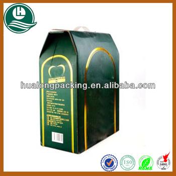 2 bottles corrugated cardboard wine box