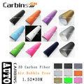3d de fibra de carbono cola desmontable envuelva coche pegatina de vinilo de liberación de aire de papel 1.52*30m
