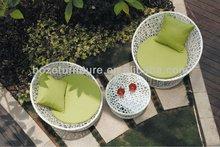 Patio rattan sofa coffee furniture / plastic chairs and table