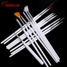 15 Pcs White Acrylic Nail Brush/Nail brushes 15 pcs/Nail brushes tool set