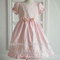 Flower and beaded uper design girls nice dresses for summer