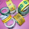 Strong adhension force yellow base printed BOPP packing tape