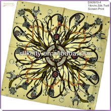 Belt Design 100% mulberry silk scarves