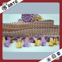 100% Polyester Fringe Curtain Decorative Fringe Models Of Valances Curtain For Indian Market