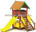 Outdoor playground baby, castelo playground de madeira