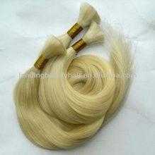 100% Brazilian/European factory price virgin/raw hair bulk,material