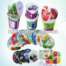 Aluminium foil lids for PP/PE/PET/PS cups of yogurt&dairy products
