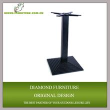 black metal garden table base