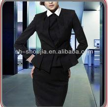 Senhoras elegantes de negócios uniforme terno conjuntos, mulheres uniforme escritório 2014 projeto o mais novo estilo, moda senhora terno conjuntos de roupa de trabalho de escritório