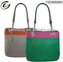 2013 Korean Women Pattern PU Leather Tote Bag