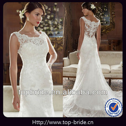 TBBG501 Elegant Lace Beaded Crystal Suzhou Wedding Dresses