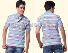 2013 famous Korean top fashion brand striped polo t shirt