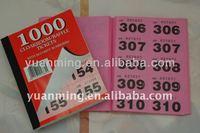 bingo tickets book