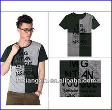 2013 newest design assorted colour 95% cotton 5% spandex printed man t-shirt wholesale