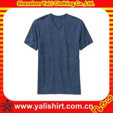 OEM simple comfort v-neck short sleeve solid color cotton blank men cheap t shirt dresses