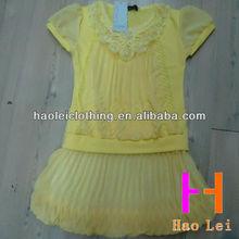 kid clothes girl dresses short sleeve chiffon wedding dresses