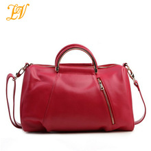 2013 alibaba express women high grade genuine leather tote travel bag