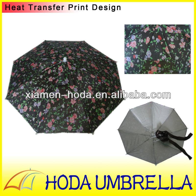 การออกแบบใหม่2013ร่มหมวกสำหรับเด็กและผู้ใหญ่ที่มีการป้องกันยูวี/แฟชั่นชั้นสองหัวร่มด้วยเชือก