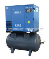 Screw Type 11kw Air Compressor (intergrated unit)