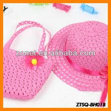 Sun Flower Children Straw Hat Wholesale ZTSQ-BH018