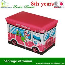 cute filling foam ottoman/ottoman chair/stool storage box