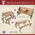 Multi- funtion de madeira banco do jardim também uso como mesa de jantar e cadeira