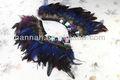 Nuevo collar de moda de plumas de pavo real
