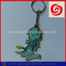 Fashion custom pvc company brand key ring keychain crafts for kids