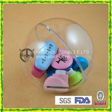 Opening Plastic Christmas Ball Hat Ornament