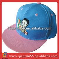 2013 fashion adjustable plastic strap cap flat cap baby size acrylic snapback child hat
