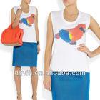 E+H1447 New fashion 2013 clothing ladies apparel high quality and cheap bangkok t-shirt Ladies Printed cotton t-shirt