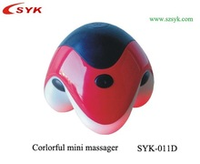 Colorful Mini Handheld Vibrating Body Massager with 3 angles