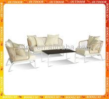 Alu. frame Sofa and coffee table set