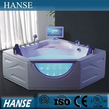 HS-B286 bath tv/ diamond shaped corner bathtub/ jet whirlpool bathtub