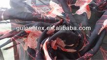 [imitated silk factory] 100D patterned chiffon fabric/ butterfly poly printed chiffon for women dress